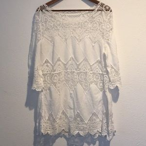 CROCHETED SWIM COVERUP